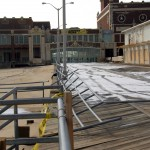 Boardwalk on North side of Convention Hall in relatively good shape.